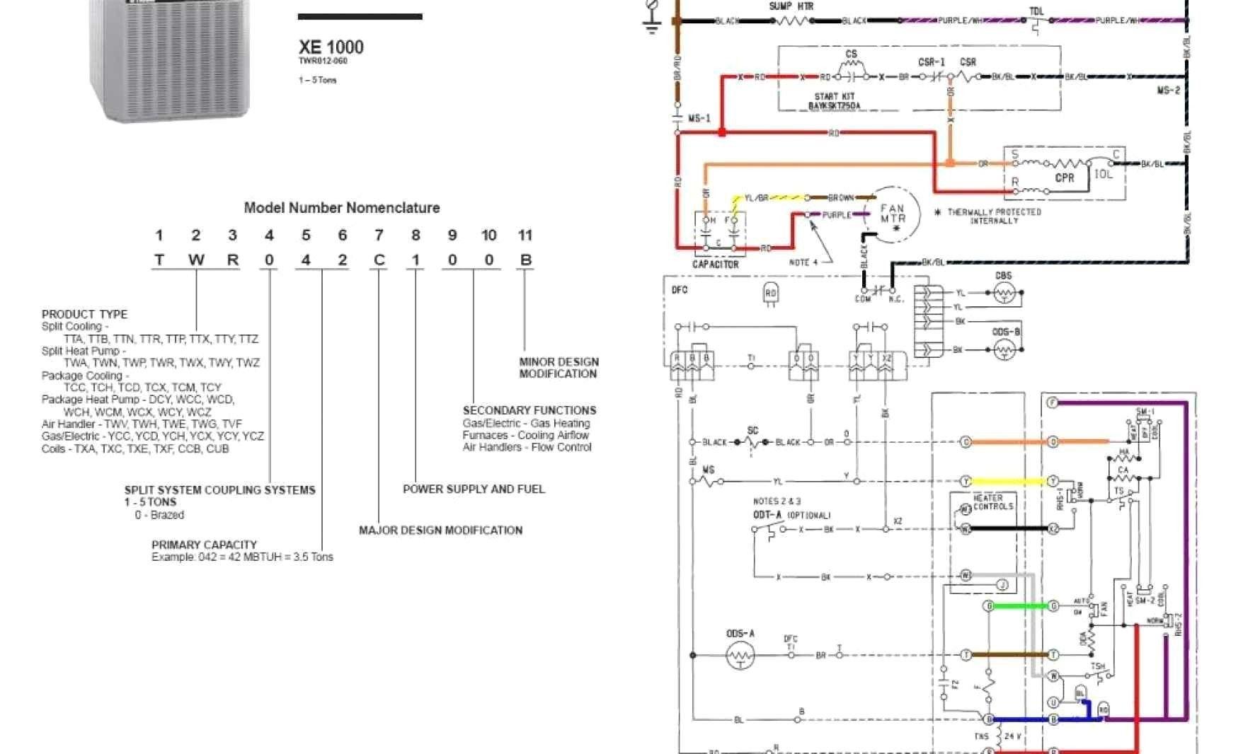 Trane Thermostat Wiring Diagram Luxury Wiring Diagram For