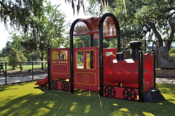 Train Playground Equipment Largo Fl Park Climb Aboard