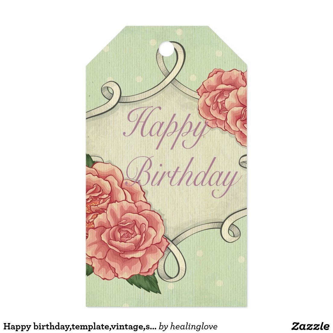 Happy birthday,template,vintage,shabby chic,roses gift tags ...
