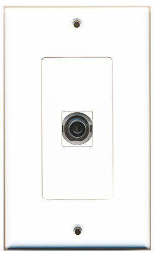 Amazon Com Riteav 1 3 5mm Audio Headphone Jack Port Wall Plate Decorative White Electronics Plates On Wall Plated Reviews Plates