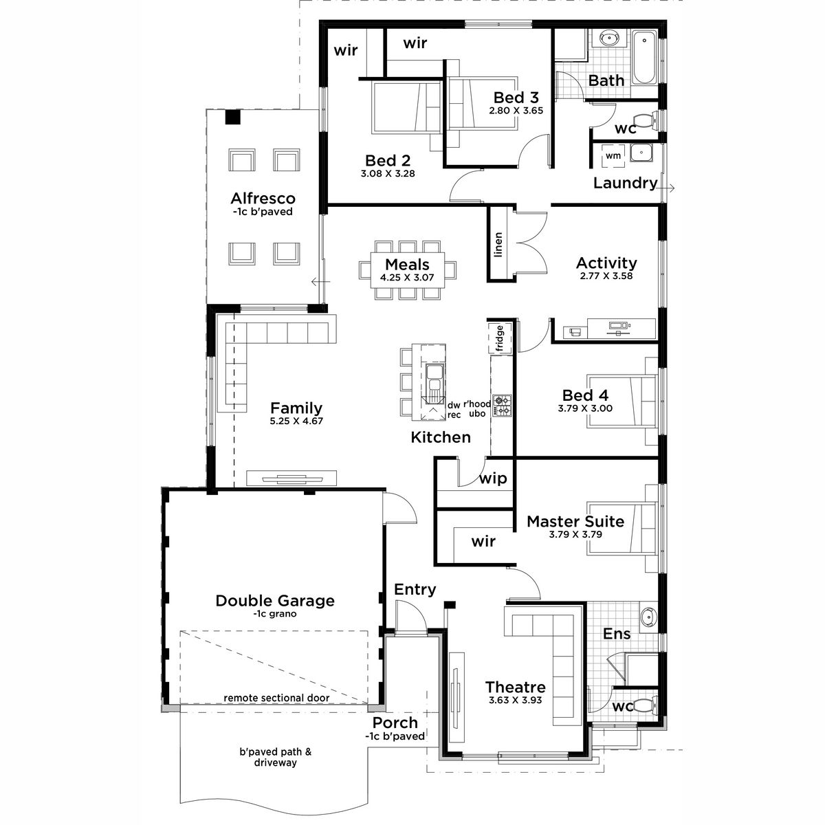 Dispozice Domu Image By Marta Kracmerova Floor Plans Sectional