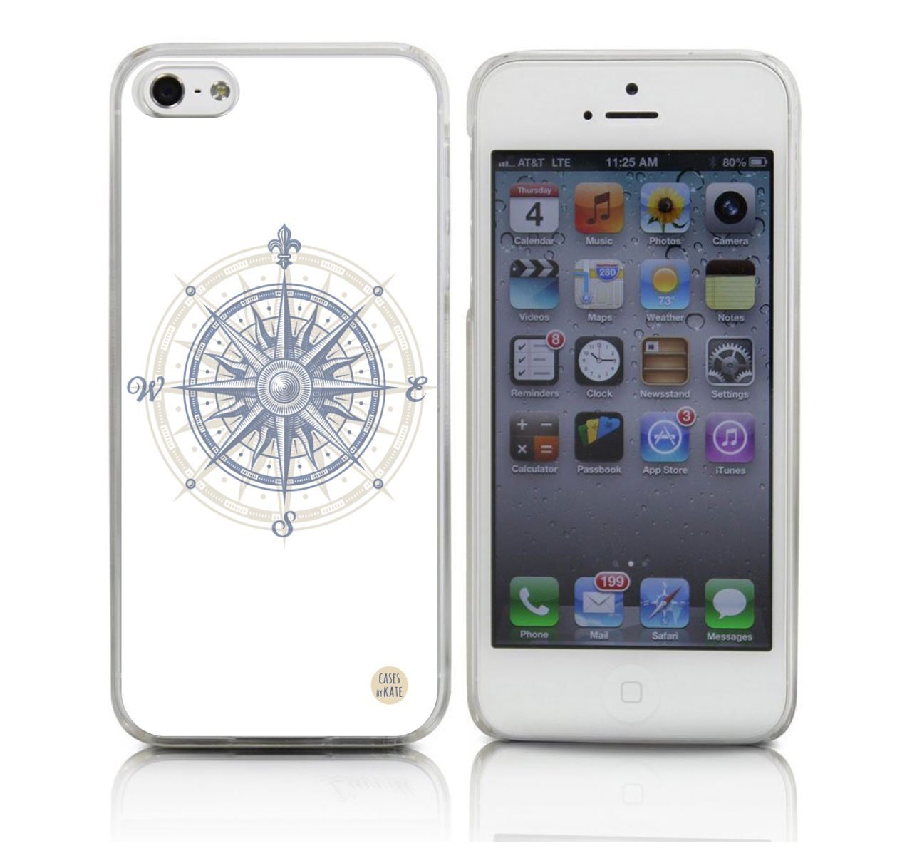 Compass Transparent iPhone Case | Summer Phone Cases | Food