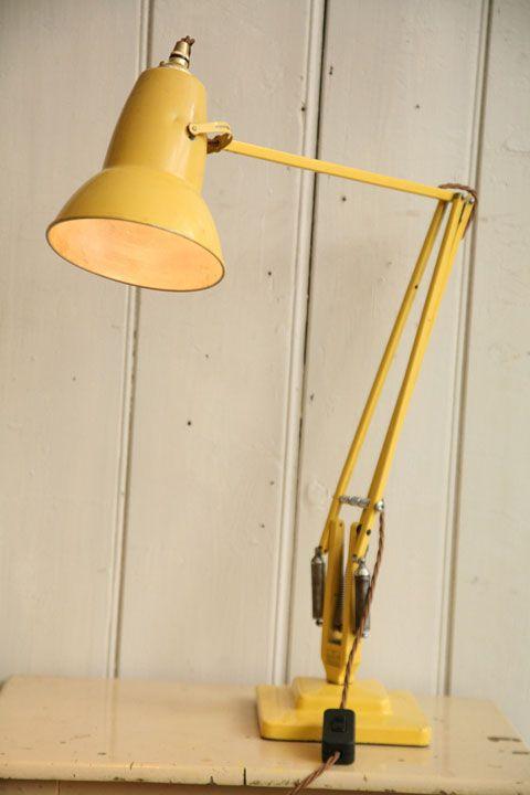 Vintage Anglepoise Desk Lamp Anglepoise Lamp Desk Lamp Yellow