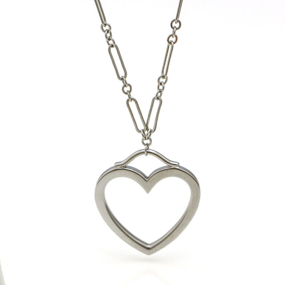 02586572cda29 Tiffany & Co. 18k White Gold Large Heart Pendant Necklace #TiffanyCo ...