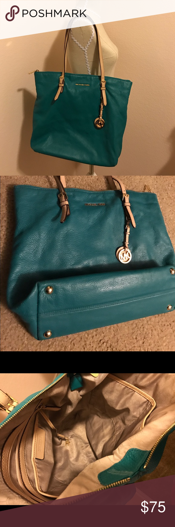 Micheal Kors tore Micheal Kors tore 100% Authentic. No damage to the leather no stains to interior. Good condition. Bags Totes