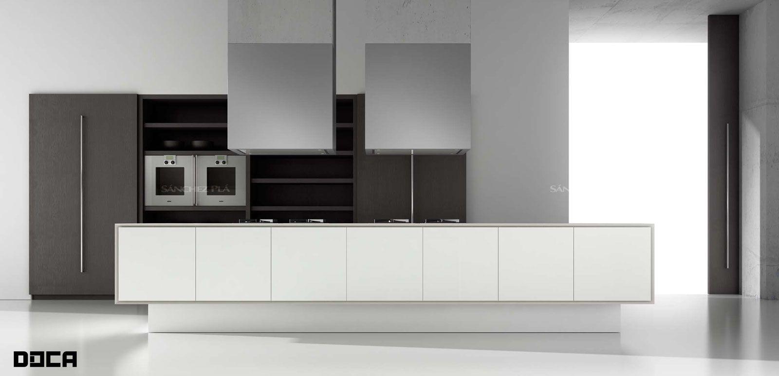 Mueble de cocina de puertas acrílicas pintadas Ecopal de Doca