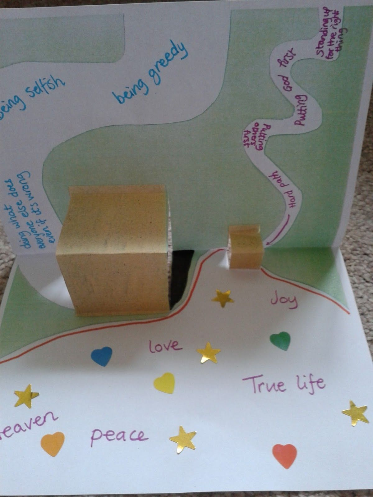 The Wide Gate And The Narrow Gate Pop Up Craft Matthew 7 13 14