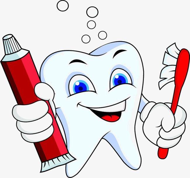 معجون أسنان الأسنان الكرتون فرشاة الأسنان Tooth Cartoon Brushing Teeth Dental Art
