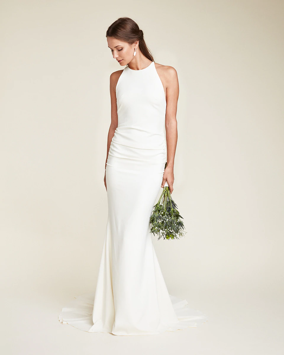 Nicole Miller Morgan Bridal Gown Minimalist Wedding Dresses Wedding Dresses Nicole Miller Wedding Dresses