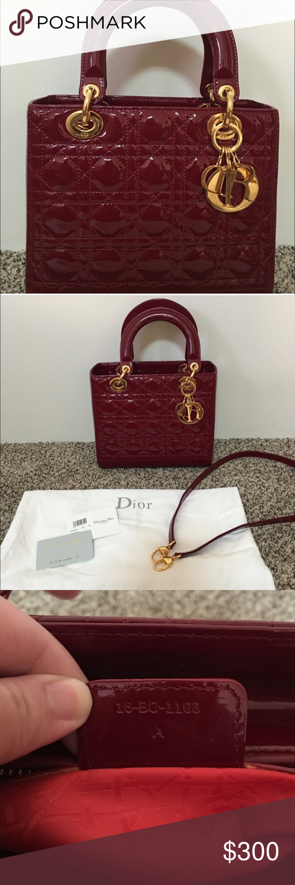 Lady Dior handbag Gorgeous handbag. Bought on here but price reflects. Comes with certification and dust bag. No low ball. I paid $400 for it. Never used no flaws. Dior Bags Shoulder Bags