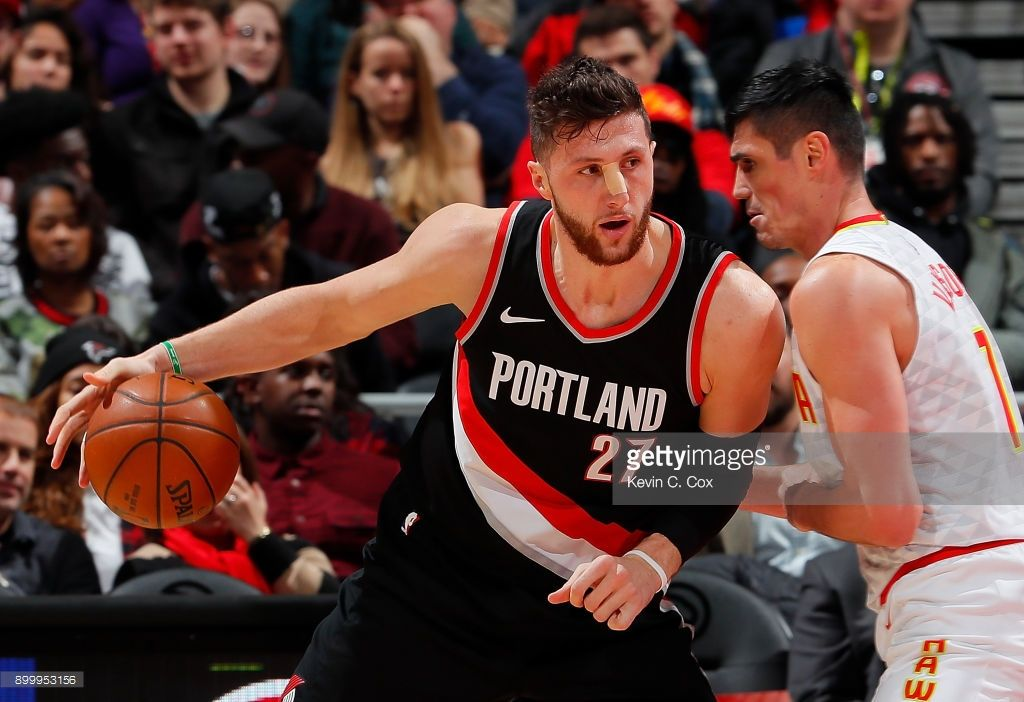 News Photo Jusuf Nurkic Of The Portland Trail Blazers Drives Portland Trailblazers Trail Blazers Portland Trail