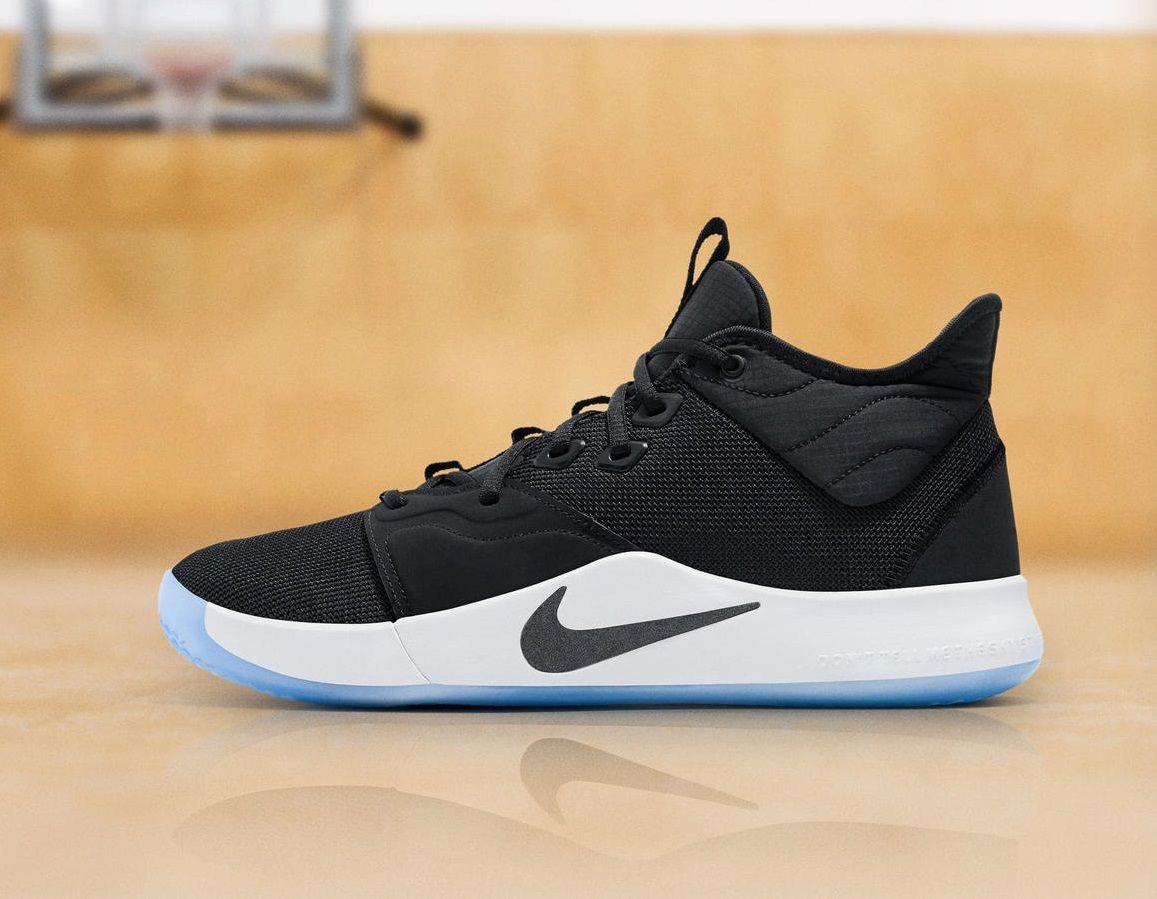 Nike PG 3 Paul George Oreo Black and White AO2608-002 PG3 Basketball Shoes