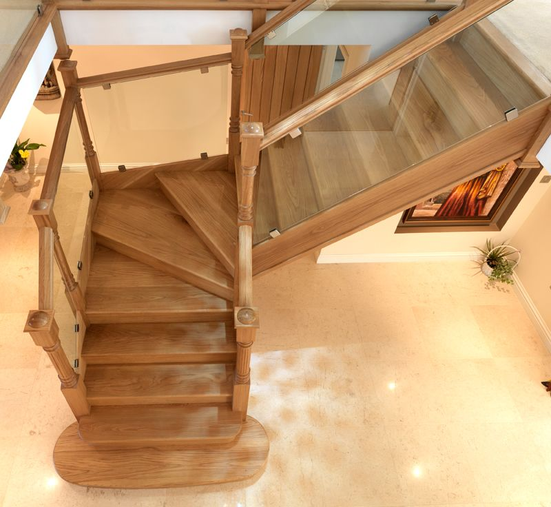 Rustic Staircase Design Ideas Newel Post Design Staircase: The Oak 115mm Corbridge Newel Post Sets Off The Glass