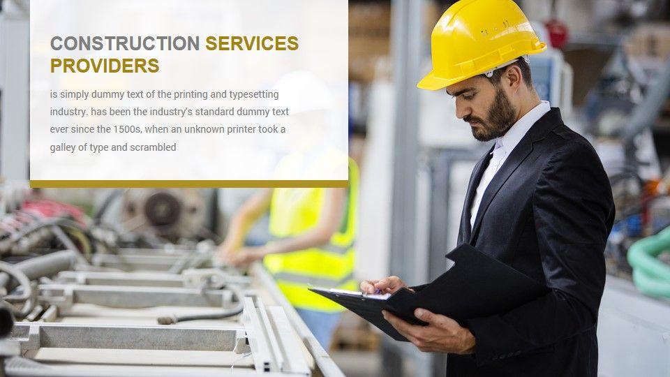 Construction PowerPoint Presentation Template Business