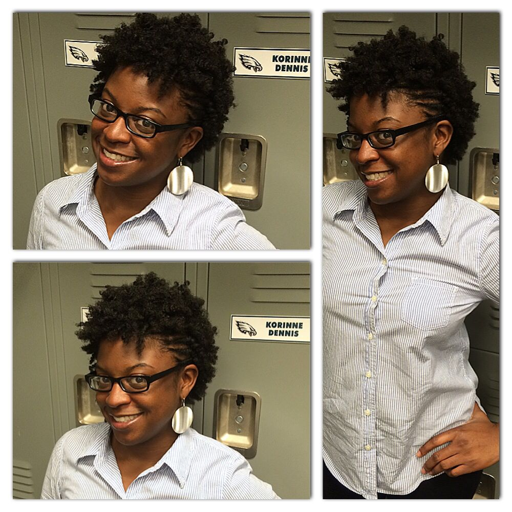 Twist out with mo-hawk! So cute Korinne!