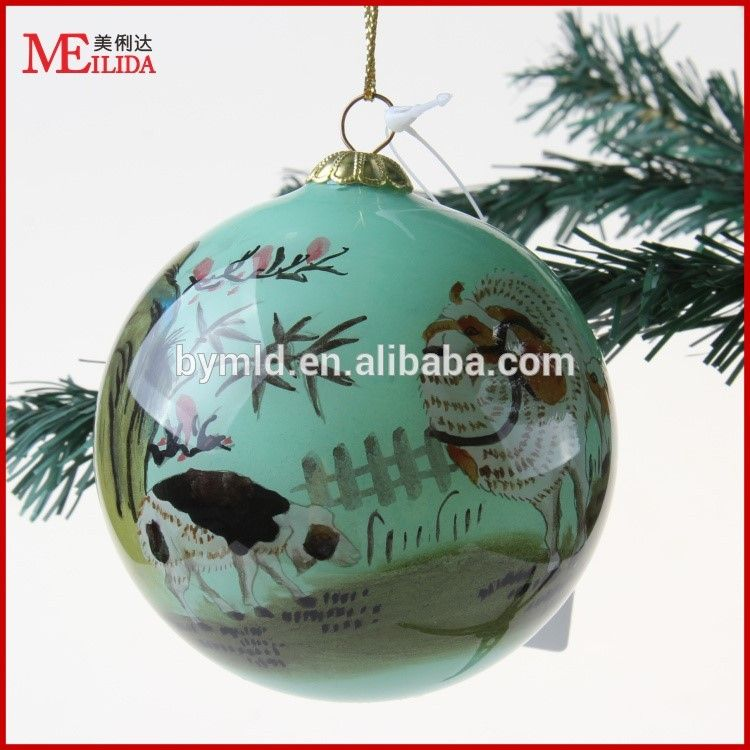 Decorating Christmas Balls Glass Handpainted Pattern Decorative Balls Decorating Christmas Glass