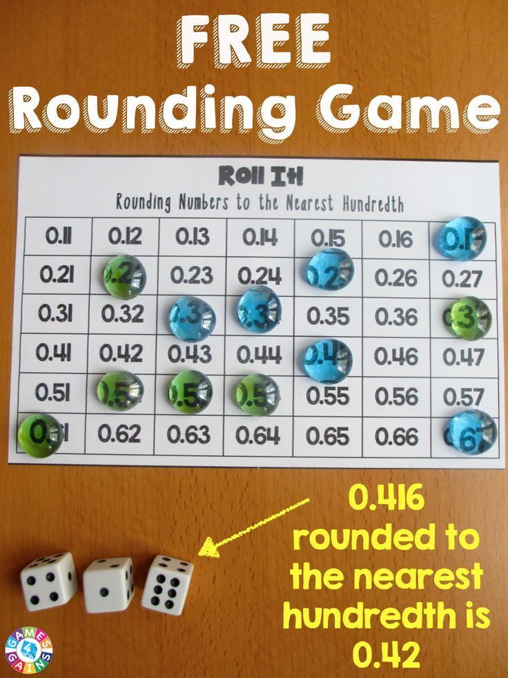 Roll It! Rounding Game | Pinterest | Rounding decimals, Game boards ...