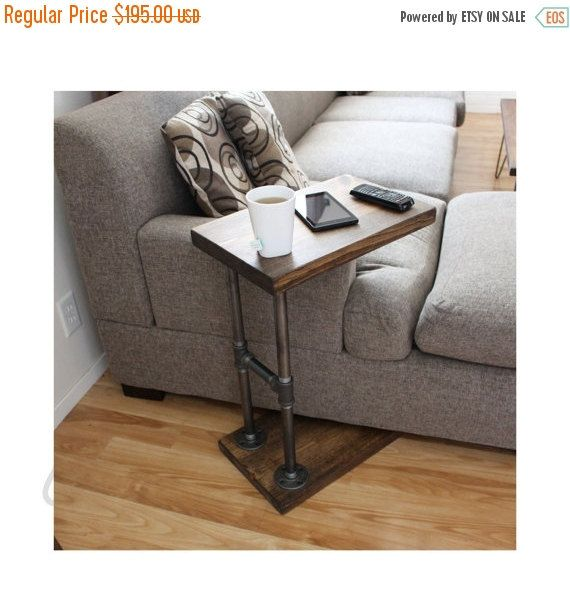 3 in 1 industrial c table functions as a side table a computer rh pinterest com ikea sofa computer table slide under sofa computer table