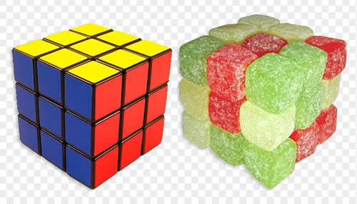 Food Rubik S Cube Cube Cube Puzzle Jelly Beans