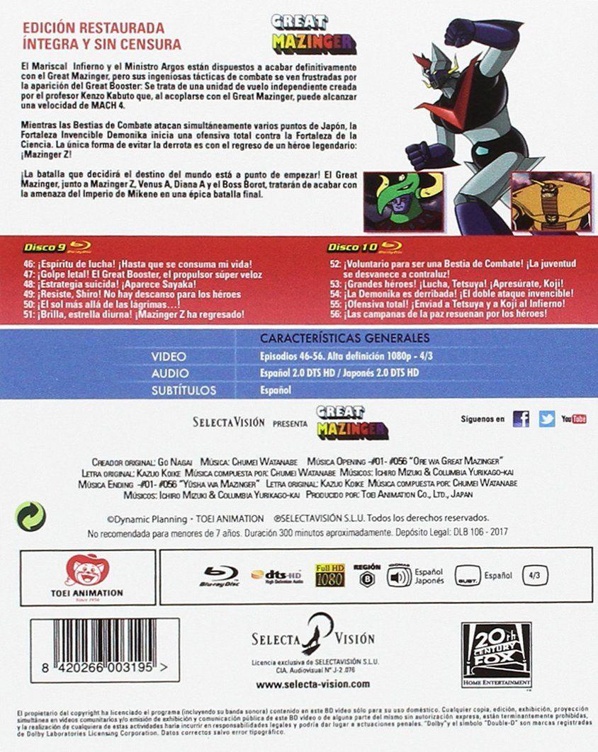 Great Mazinger - Box 5 [Blu-ray] #Mazinger, #Great, #Box
