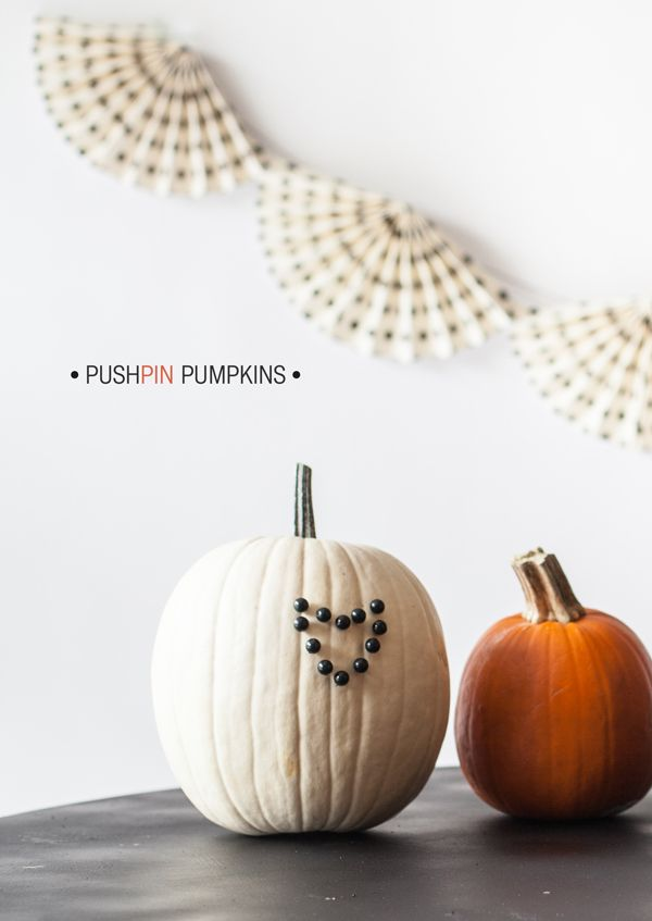 Pushpin Pumpkins diy halloween pumpkins pumpkin decorations diy - halloween pumpkin decorations