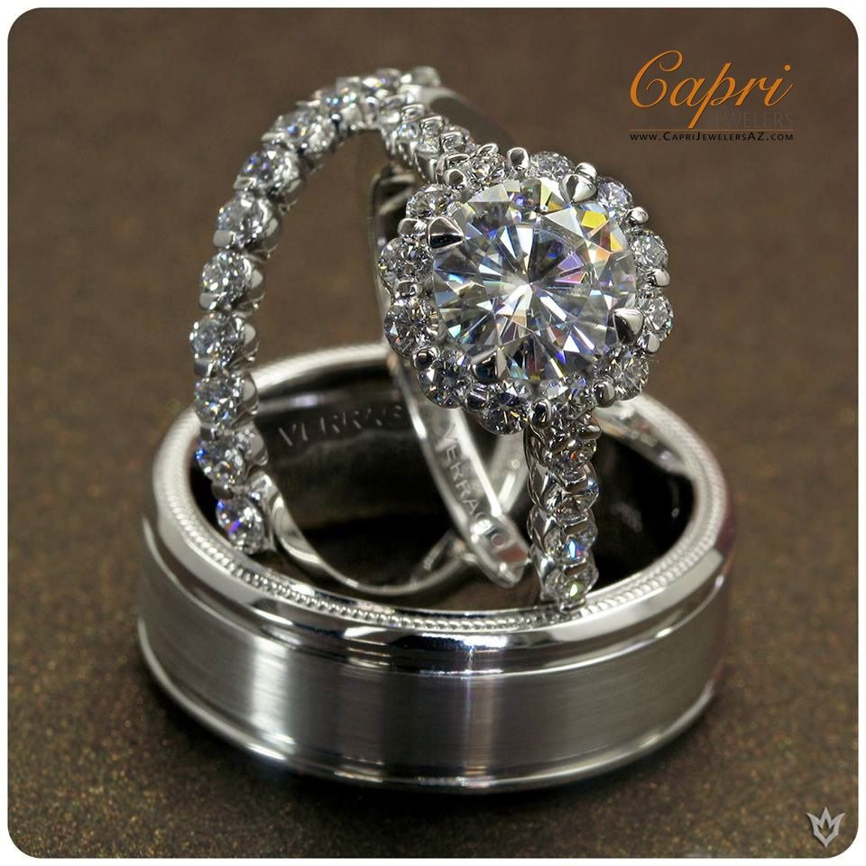 """""""Since love grows within you, so beauty grows. For love is the beauty of the soul."""" ~Saint Augustine #Capri #Jewelers #Arizona is the ONLY #Verragio Premier #Boutique in the State of Arizona ~ Instant #Savings up to $1000 during our upcoming #BridalEvent ~ Register Now!!!  http://www.caprijewelersaz.com/event  ♥ #Financing Options ~ Upgrade & Update your old jewelry to new ~ crazy #deals on center #Diamond with any #bridal purchase [Photo: Insignia-7033, 7033W & VW7010"""