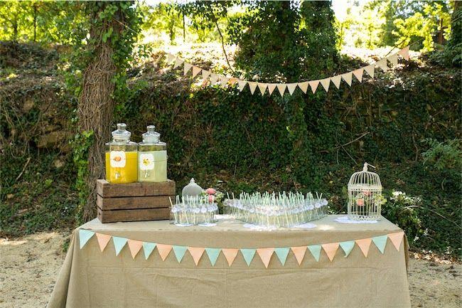 La d coration du mariage p che limonade le mariage et for Decoration table vin d honneur
