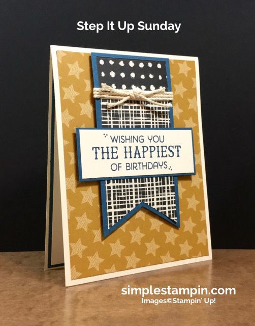 Stampin Up Masculine Birthday Card Fiesta Photopolymer Number Of Years Susan Itell 3 Simplestampin More