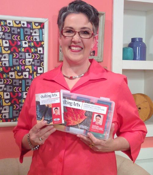 Susan Brubaker Knapp with her Aurifil thread collections for ... : quilt art magazine - Adamdwight.com