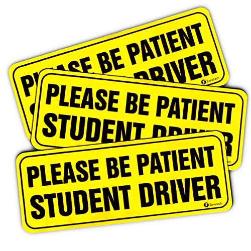 STUDENT DRIVER Please Be Patient Warning Car Sticker Vinyl Decal Reflective