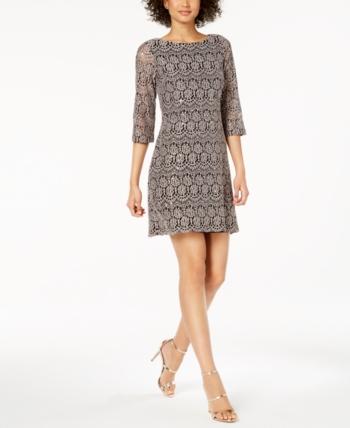68e16b232d88 Jessica Howard Petite Lace Shift Dress - Tan/Beige 14P in 2019 ...