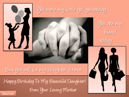 A beautiful birthday greeting by a loving mother to her angel who send birthday wishes from mother to daughter free online to my lovely daughter ecards on birthday bookmarktalkfo Gallery