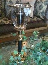 Black and gold votive