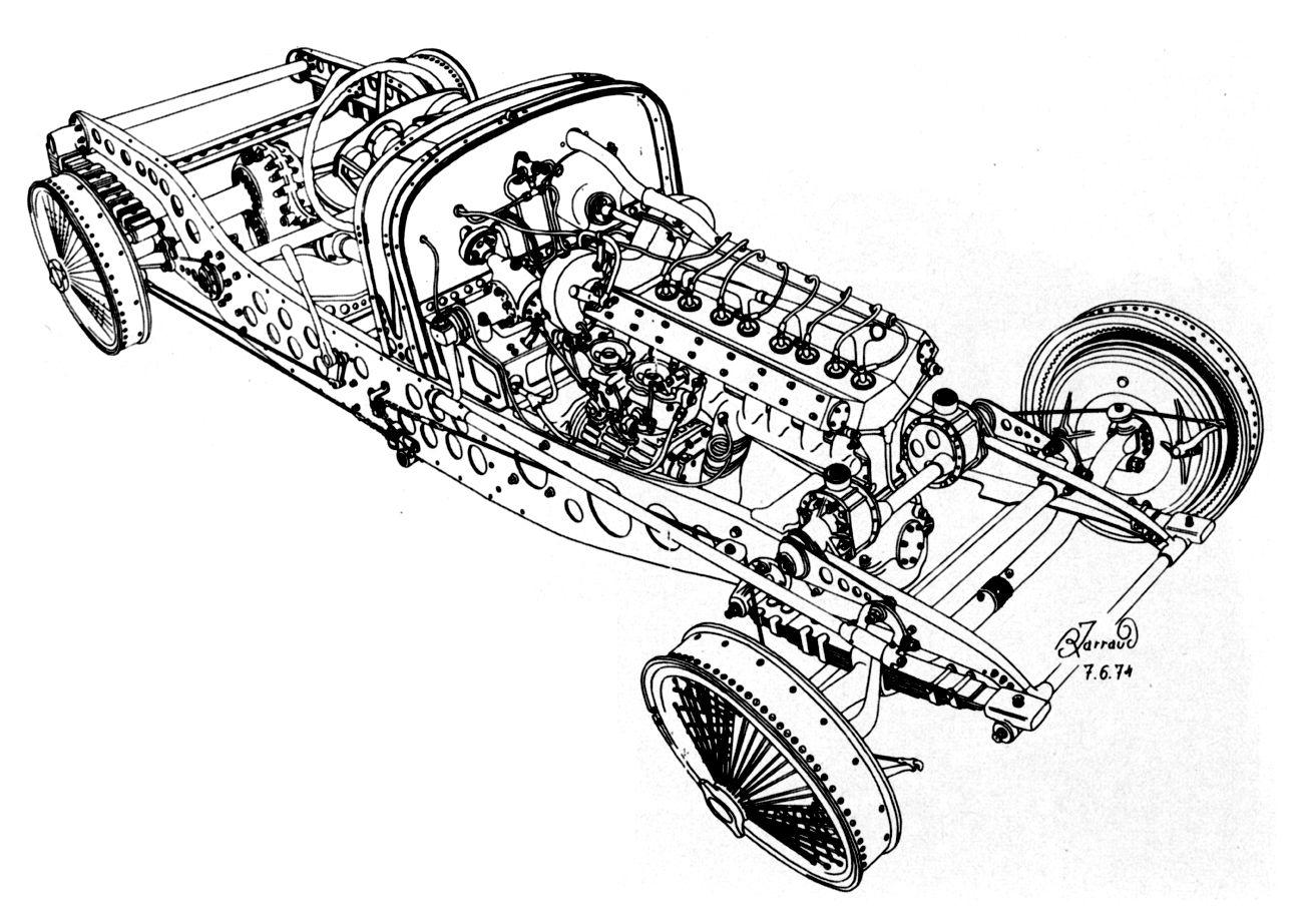 Bugatti Type 59 Chassis Illustration