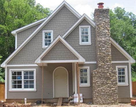 Looks Like Cedar Shakes On Top Stone Fireplace Color Amy Dental Office Job House Exterior