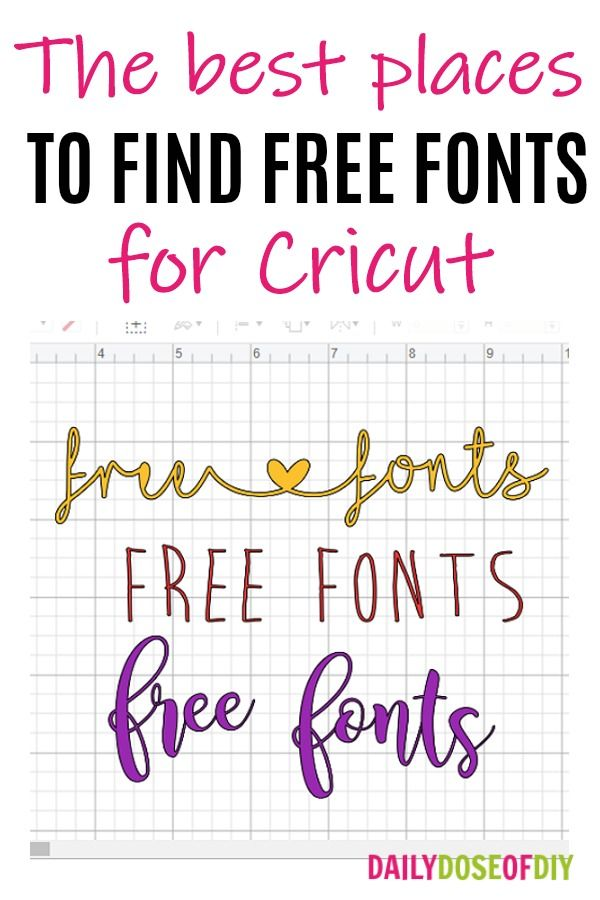 Download Where to Find Free Fonts for Cricut Design Space - Top 5 ...