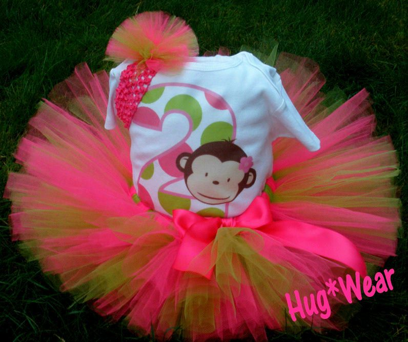Custom Mod Monkey Birthday Tutu. $39.95, via Etsy.