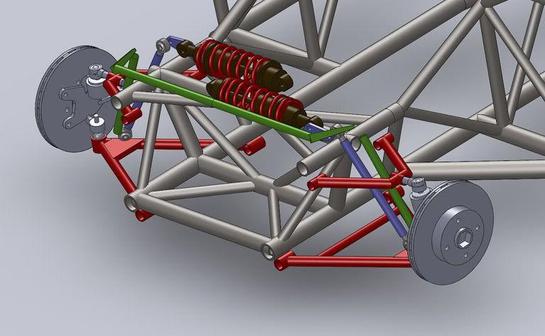 427 Modelisation Chassis En 3d Solidworks Car Frames Homemade Go Kart Go Kart