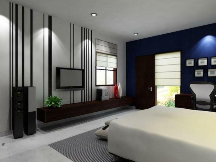 schwarz weiß wohnzimmer einrichten streifen Wandgestaltung - wandgestaltung mit farbe streifen schlafzimmer