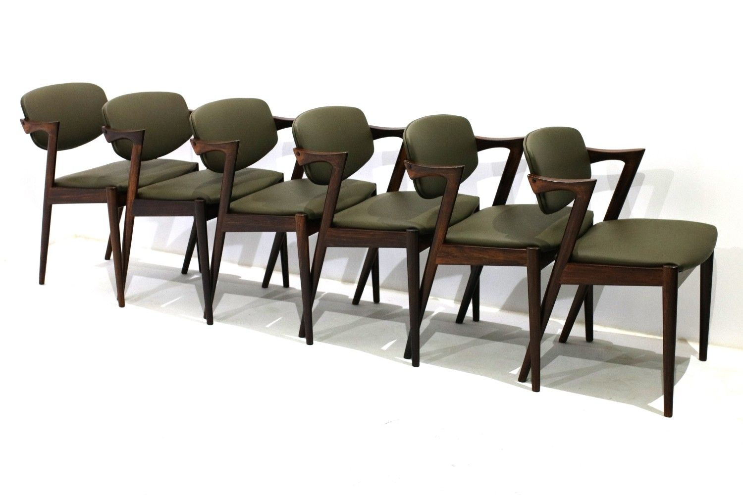 For Sale Set Of 6 Model 42 Dining Chairs By Kai Kristiansen For