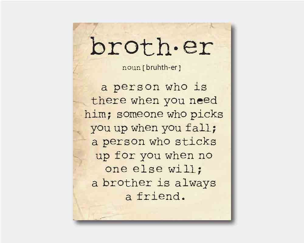 Brother Quotes Unique Family Wall Art  A Brother Is A Person  Brother Quote Inspiration