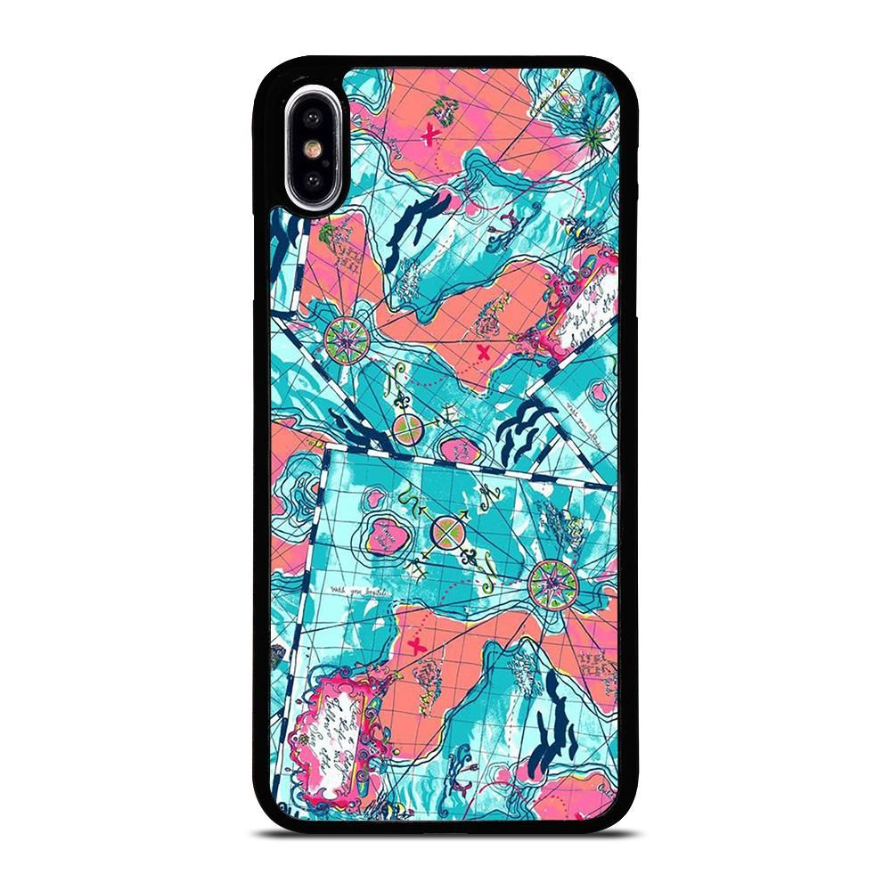 Lilly pulitzer map pattern iphone xs max case cover di 2020