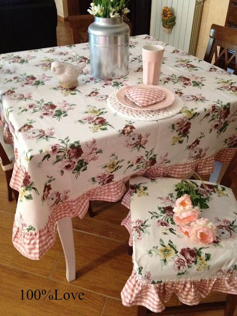 Coordinato country da cucina   Cuscini per sedie da cucina