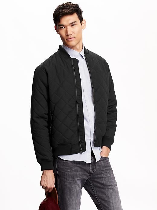 Mens Quilted Bomber Jackets Stuff To Buy Pinterest Male Fashion