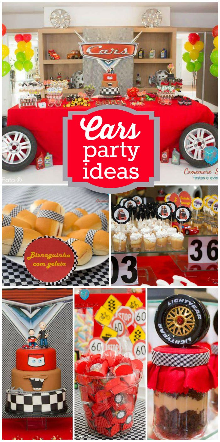 A Disney Cars Boy Birthday Party With Awesome Decorations Cake And Treats See More Planning Ideas At CatchMyParty