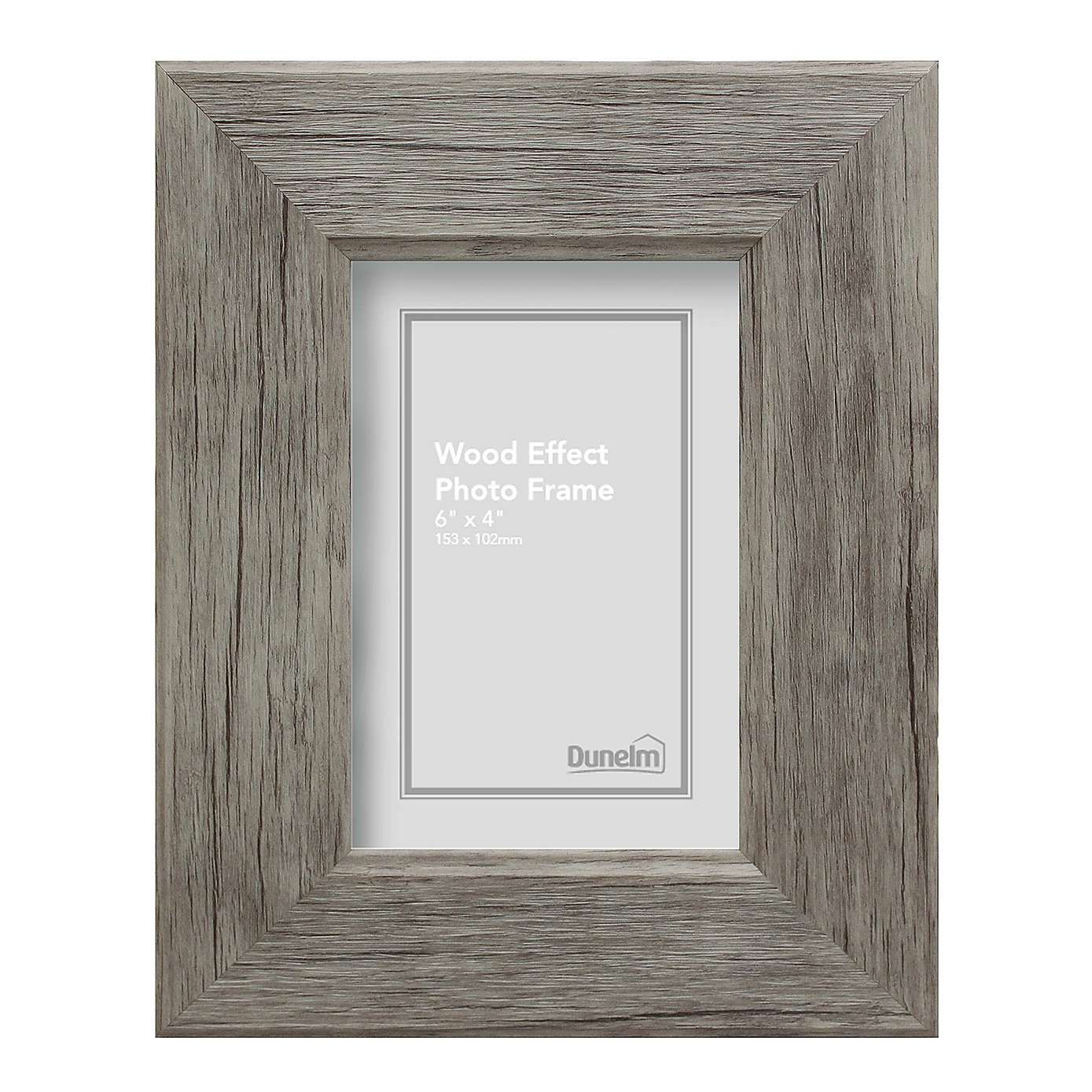 Grey Simplicity Wood Effect Photo Frame 10\