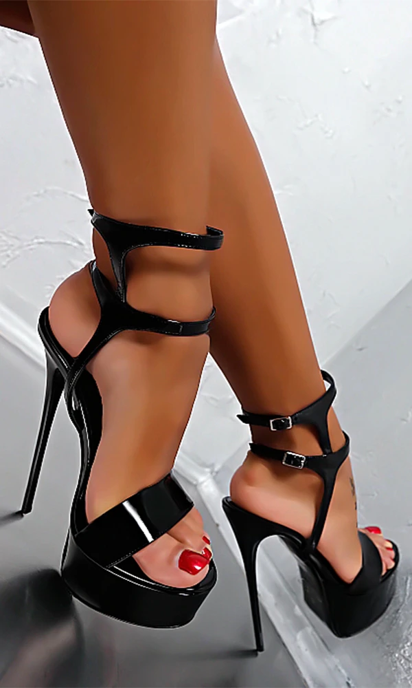 Black High Heels Women Sandals Summer Shoes HZS0204 – Trendyupgirls #shoes #heels #highheels #sandals #womenshoes #heelsprom