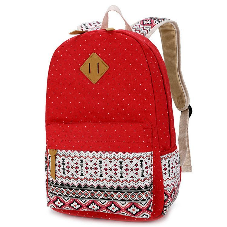 Canvas And Leather Vintage Design Backpack   Products   Backpacks ... a041d36a9b