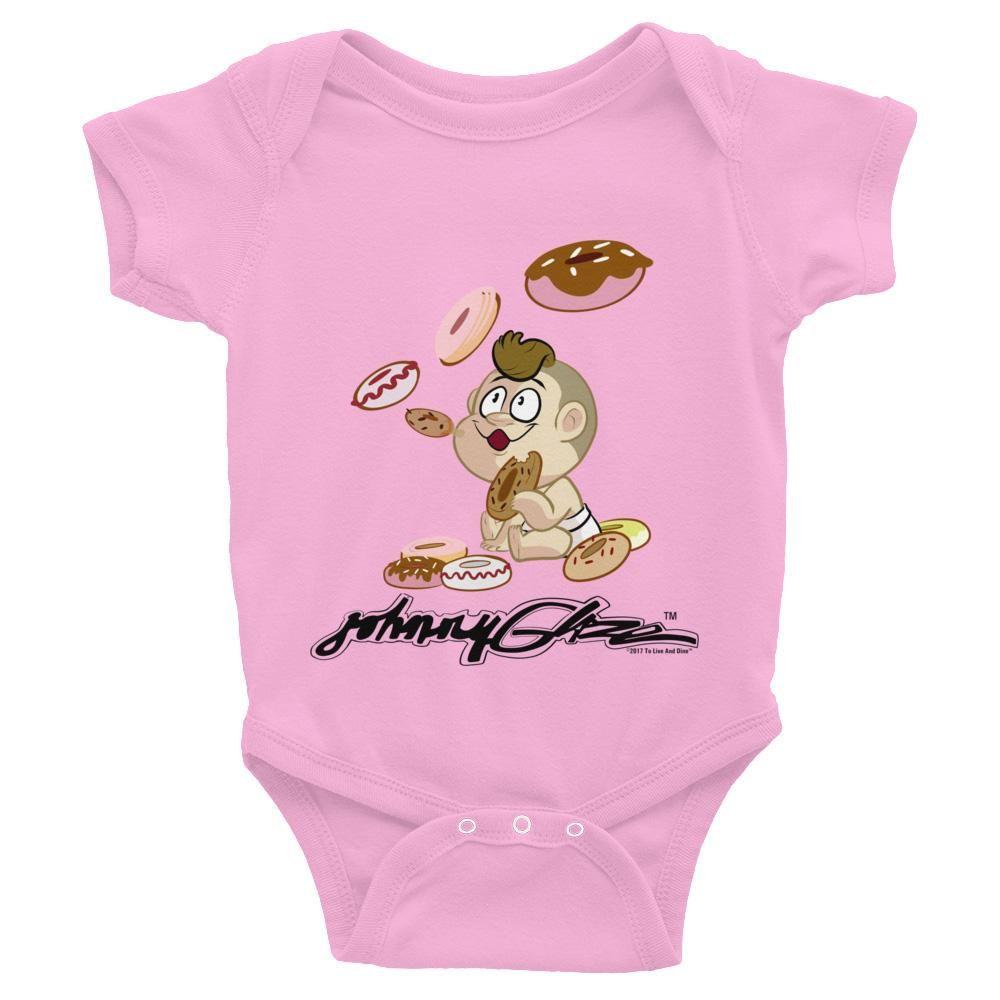Johnny Glaze Blowing Donuts Infant Bodysuit