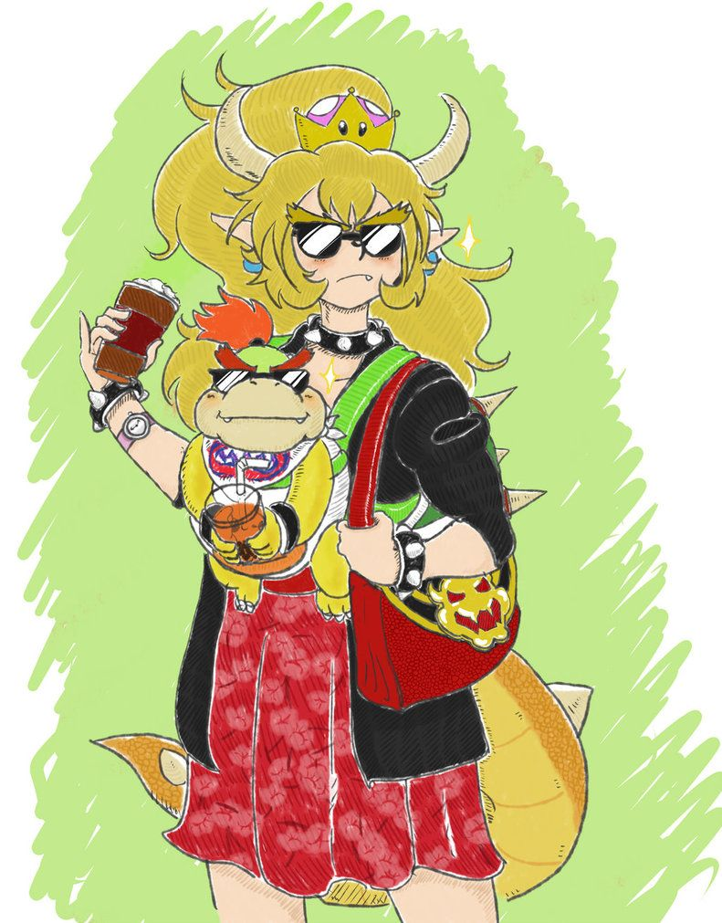 Single Mom Bowser By Uncleshoveit The Only Reason Bowsette Is Not
